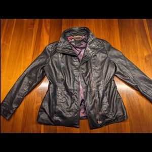 Ted Baker Black Lamb Leather Women's SZ5 jacket